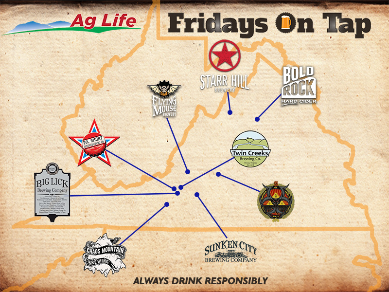 Fridays on Tap Brewery Map