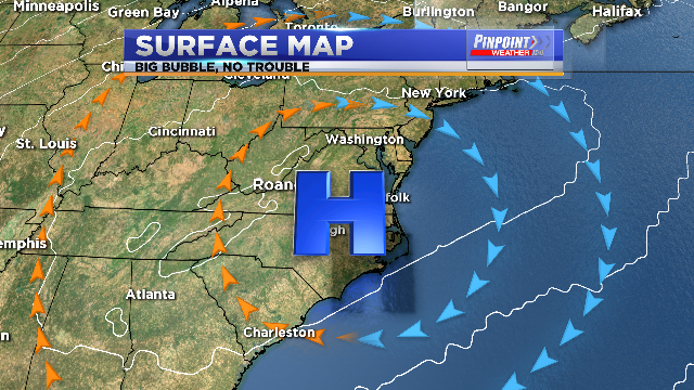 A warming trend is starting.