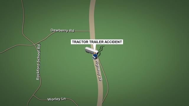 Two taken to hospital following tractor trailer accident
