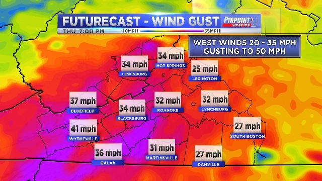 Windy Weather Expected to Intensify Tonight & Thursday