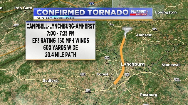 National Weather Service Confirms Four Tornadoes From Sunday