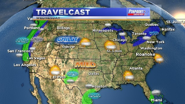 Temperatures drop as chilly pattern sets up for the Holiday