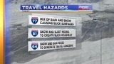 Wintry mix creating slick roads today