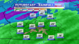 Rain will continue overnight in Sunday, flooding possible
